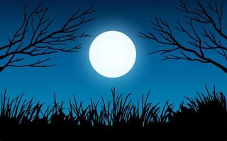 Tree Branch in the Moonlight vector