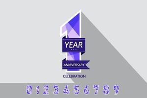 set of anniversary emblems anniversary template design for web game creative poster vector