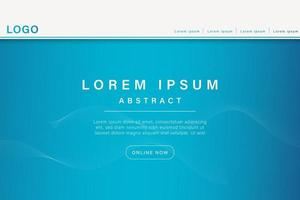 Landing page template with liquid fluid shapes and geometric patterns for business website design. vector