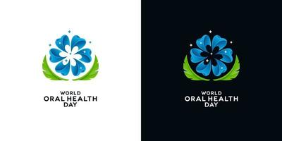 World Oral Health Day Greeting Card Designs vector