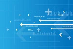 operación de sistemas digitales que están transfiriendo datos. vector