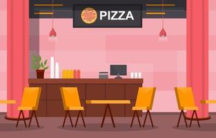 Restaurant Interior with Empty Tables and Chairs vector