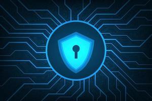 sistemas de seguridad que cubren toda la red digital. vector