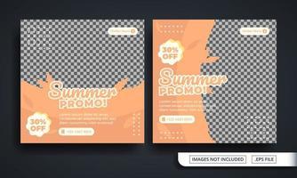 plantilla de publicación de redes sociales temática de promoción de verano vector