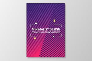 minimalist cover design in colorful halftone gradient vector