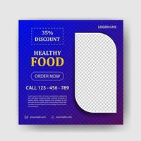 Healthy Food Ads Banner Design Template vector
