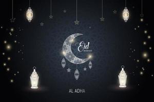 cartel de al adha eid mubarak vector