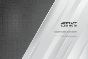 diseño de fondo abstracto en escala de grises vector