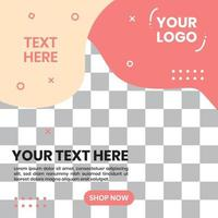 Abstract background social media post template. Abstract shapes vector background design