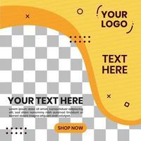 vector de diseño de fondo de formas abstractas. para plantilla de publicación de redes sociales de fondo