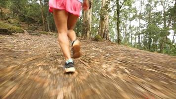 Girl Running in the Forest in Portugal