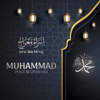 diseño de celebración isra 'mi'raj vector