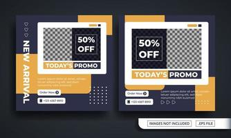 Fashion Promo Themed Social Media Post Template vector