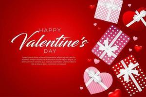 happy valentine's day background design vector