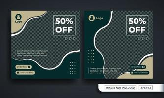 Special Offer Vintage Fashion Themed Social Media Post Template vector