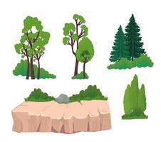 Nature element set vector
