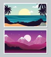 landscape banner collection vector design