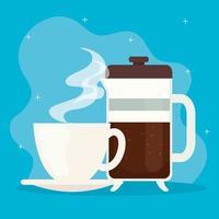 Coffee brewing method design vector
