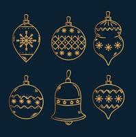 Christmas ornament set vector