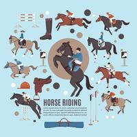 equestrian sport horse vector