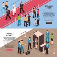 isometric security banners vector