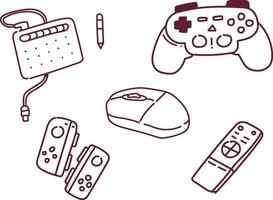 game console vector illustration . game console doodle style