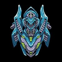 Cyber robot head vector Illustration