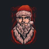 Cool santa claus vector illustration