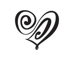 Vector Heart love sign forever. Infinity Romantic symbol laser cut. Design element of valentine day, wedding logo. Template for t shirt, card, poster illustration