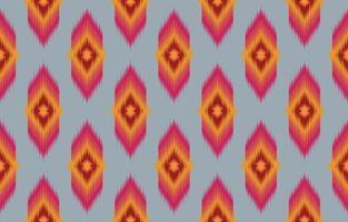 abstract ethnic oriental ikat seamless pattern vector