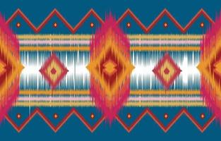 abstract horizontal ethnic oriental ikat pattern traditional vector