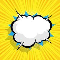 abstract comic background with blank speech bubble vector