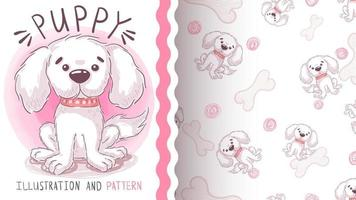 Adorable cartoon character animal - seamless pattern vector