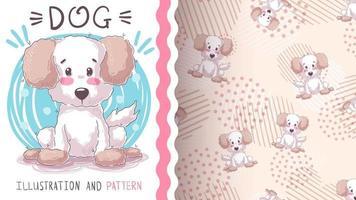 Adorable cartoon character animal dog - seamless pattern vector