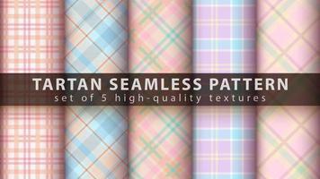 Establecer patrones sin fisuras de tartán clásico. vector