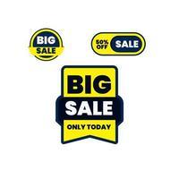 Establecer gran venta y oferta especial, fin de temporada, ilustración de vector de oferta especial.