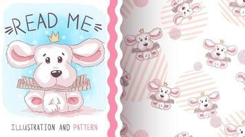 personaje de dibujos animados infantil animal cachorro vector