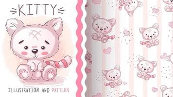 Adorable cartoon character animal cat vector