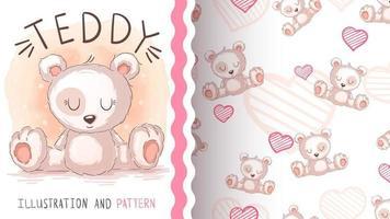 Teddy cartoon character animal bear vector
