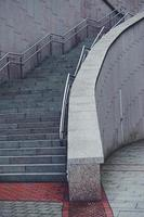 Stairs architecture on the street in Bilbao City, Spain