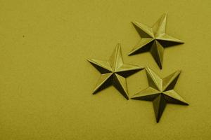 Yellow stars on the yellow background