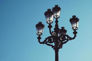Street lamp in Bilbao City, Spain