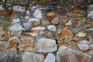 Orange stone wall textured background