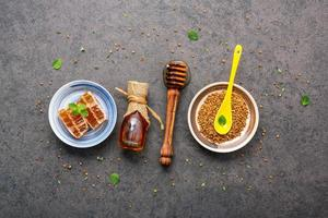 Raw honey in multiple forms