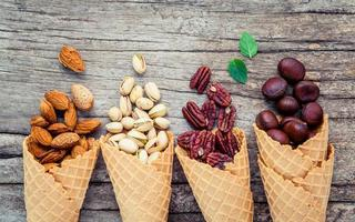 Nuts and waffle cones