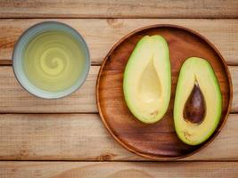 Fresh avocado and oil