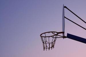 Street basketball hoop, Bilbao city, Spain