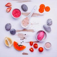 coloridos ingredientes naturales foto