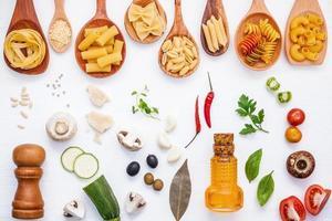 Fresh Italian food ingredients