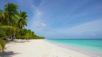 día soleado de verano en el fondo de la playa del mar caribe.